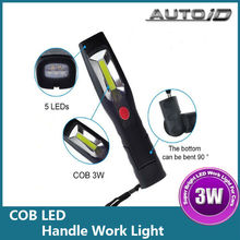 1Set Rechargeable 3W & 5 LED COB 12V LED Camping Lamp Inspection Torch Handle Work Light