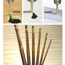 New 6 piece Drill Bit Woodworking Hole Saw Wooden Wood Metal Plastic Cutter Saw Carpentry Woodworking Drill Bit Slot Saw Drill(China (Mainland))