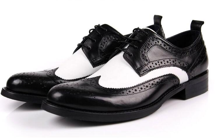 Men's leather shoes genuine men wedding dress oxfords pointed toe lace size 37-45