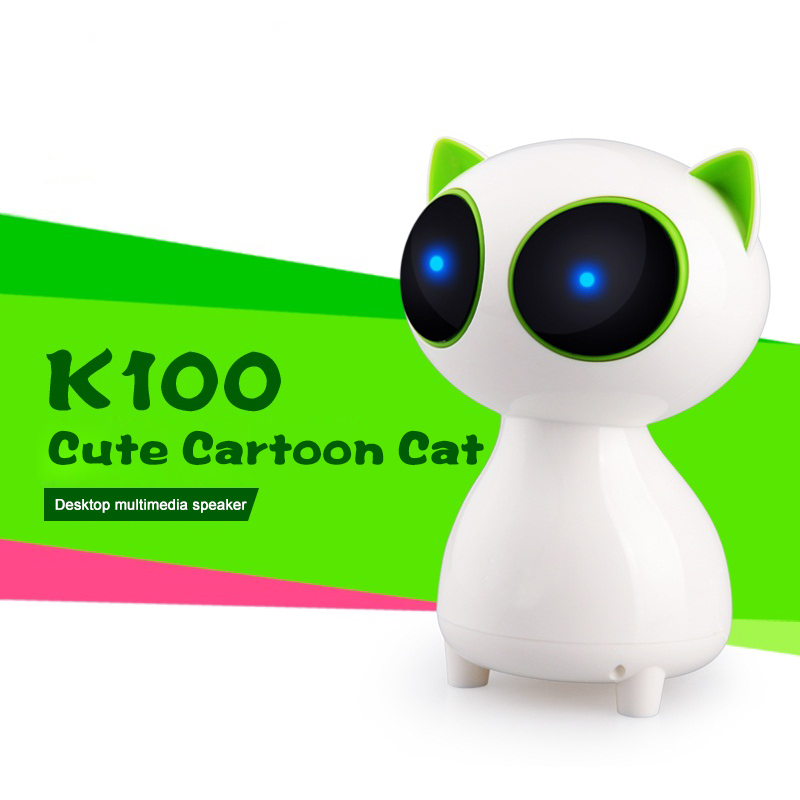 Mini Speaker Cute Cartoon Cat Speakers LED Altavoz Portable Wired Stereo Hifi Caixa de som For SmartPhone PC Computer(China (Mainland))