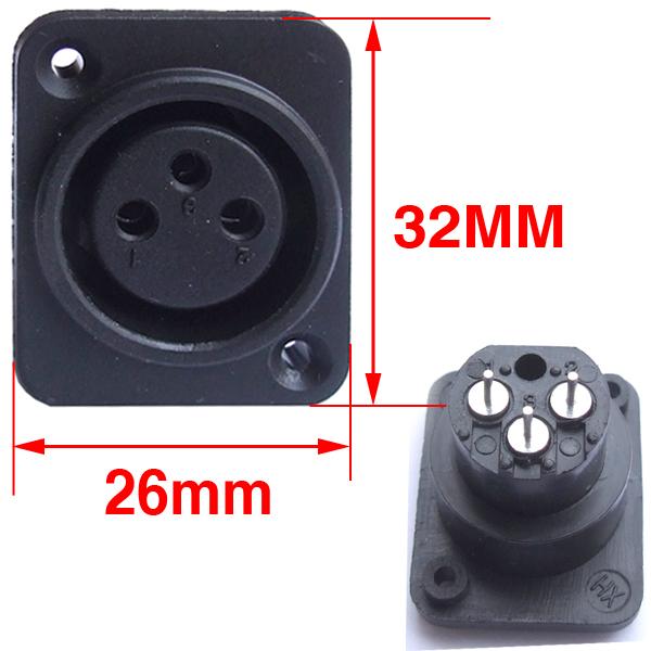 3 Pin XLR Female Jack Panel Mount microphone DIY fast free shipping<br><br>Aliexpress