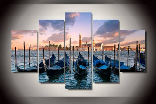 (Unframed)Printed Venezia Venice Italy Painting On Canvas Room Decoration Print Poster Picture Canvas Modular Picture(China (Mainland))