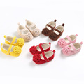 Sweet Big Flower Solid Newborn Baby Girls Princess Soft Soled First Walkers Shoes Anti slip Infant