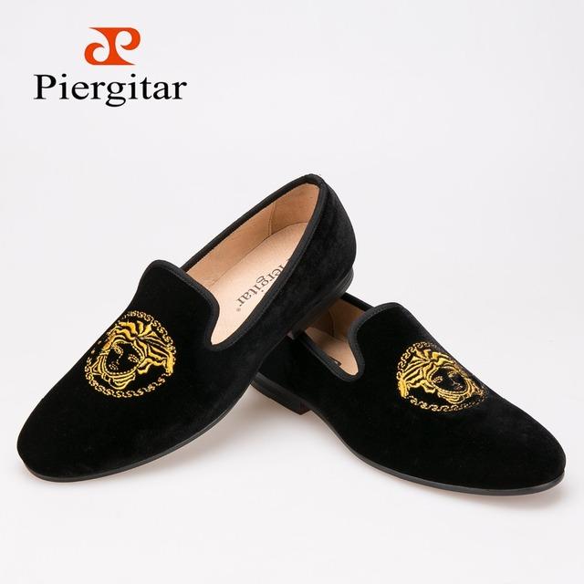 Новый ручной вышивки бархатные туфли мода марка ну вечеринку и свадебные мужчины ...