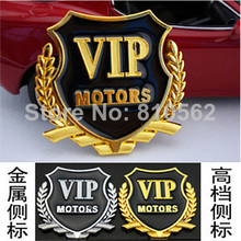 2014 Car Covers Styling 2pcs/lot Vip Stickers Window Flag Stick Side Mark of Auto Parts, Metal Wheat Stickers, free Shipping