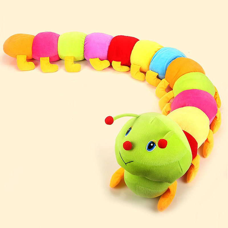 50cm Baby Toys Colorful Caterpillars Millennium Bug Doll Plush Toys Kids Large Caterpillar Hold Pillow Doll toys for children(China (Mainland))