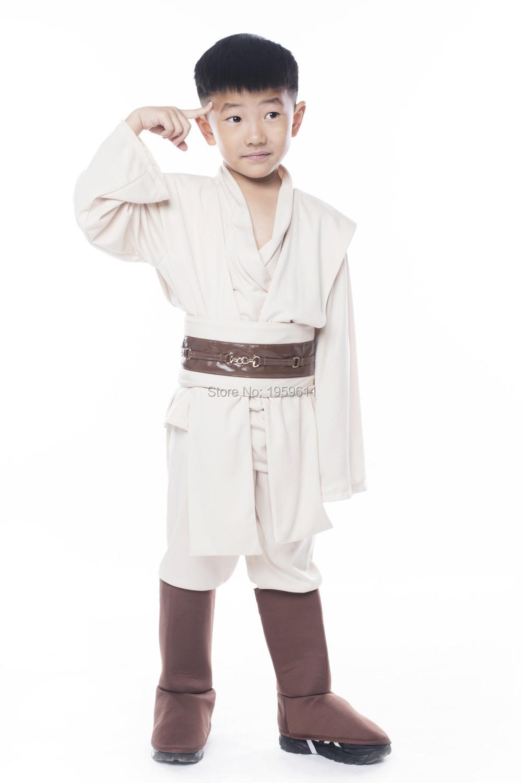 Kids STAR WARS Robe Jedi/Sith Cosplay Tunic Costume Obi Anakin Jedi Sith Karate Inside Suit Cosplay Costume With Belt(China (Mainland))