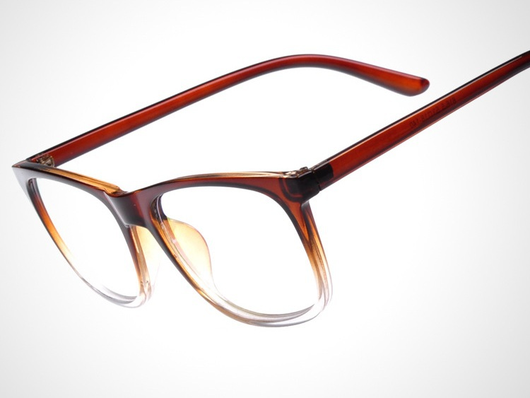 Clear brown frame men spectacles wholesale anti UV flat ...