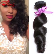 Peruvian Virgin hair bundles 4Pcs 7A Unprocessed Human Hair Weaves Peruvian Loose Wave Natural Black Rosa Hair Products Soft End
