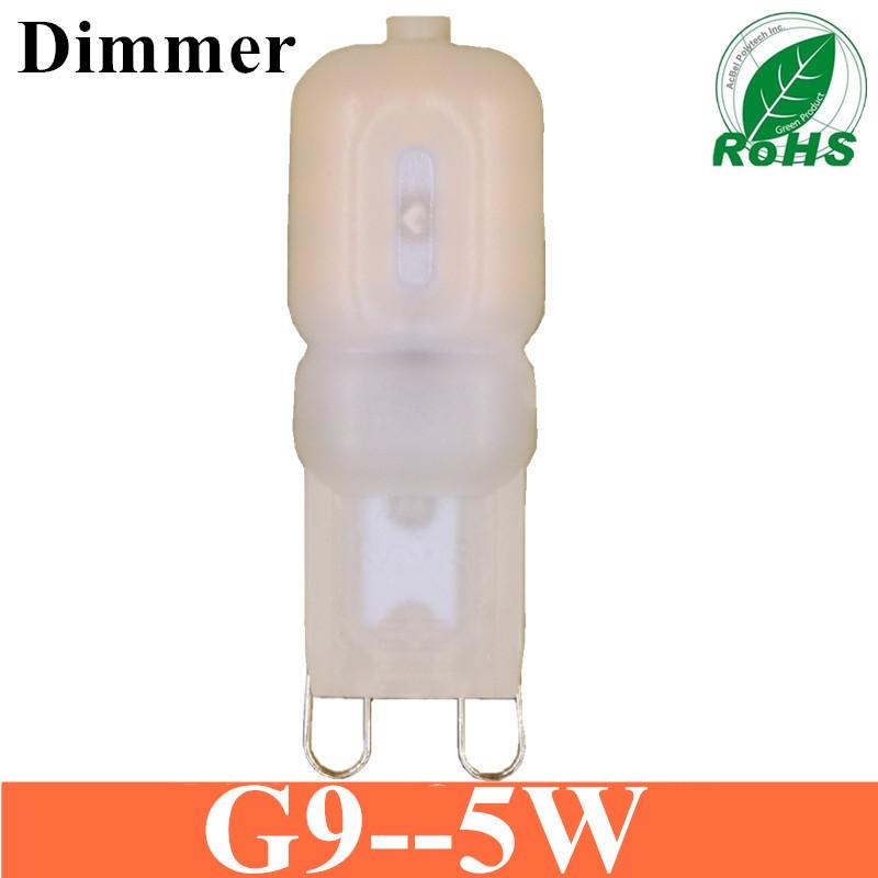 2016 G9 Dimmer led 5W AC 220V 230V G9 lamp Led bulb SMD 2835 LED g9 light Replace 25W halogen lamp light free shipping(China (Mainland))