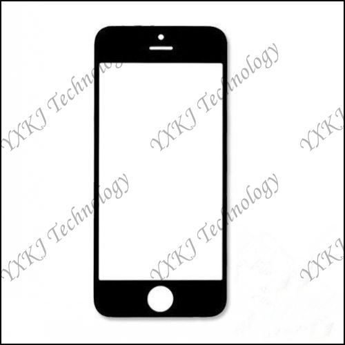 For iPhone 5 5G 5S 5C front Glass Lens Touch Panel Replacements Parts White/Black free shipping 1pcs(China (Mainland))