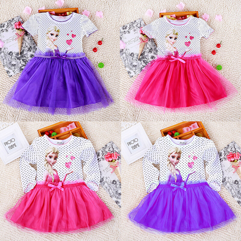 High Quality Brand Snow Queen elsa dress <br><br>Aliexpress
