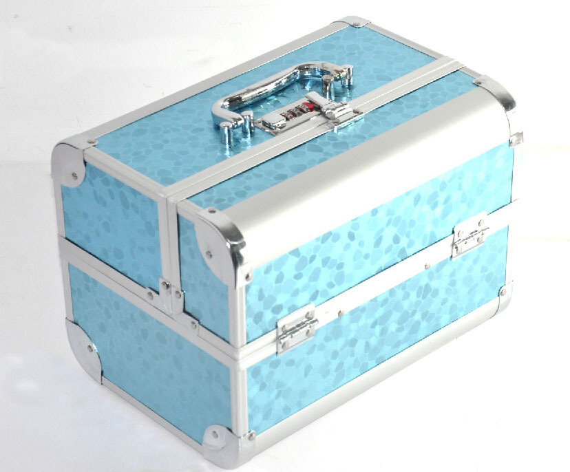 4 Colors - Travel Beauty Box Make up Vanity Case Cosmetic Bag For Nail Hair Salon Jewelry silver(China (Mainland))