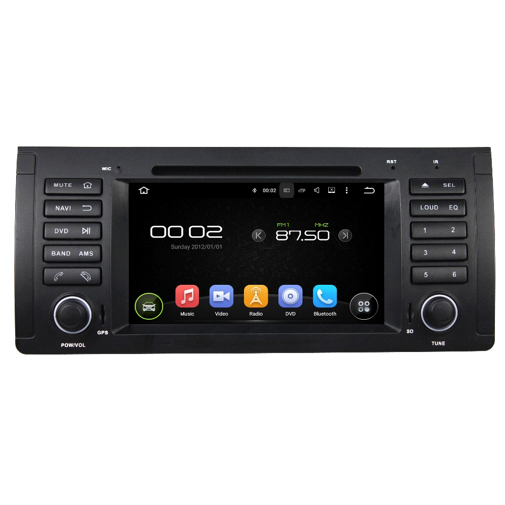 "Android 5.1 HD 1 din 7"" Car PC Radio DVD for BMW M5 E39 X5 E53 With GPS 3G / WIFI Bluetooth IPOD TV USB AUX IN free Can bus(China (Mainland))"