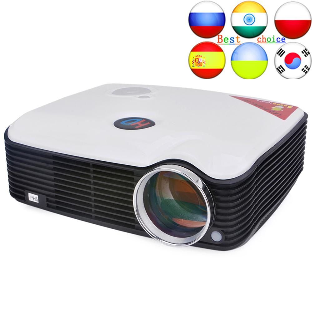 PH5 Projector 2500 Lumens Multimedia Projector Home Cinema AV/TV/VGA/HDMI for DVD/PC/Tablet Support 1080P Multimedia Proyector(China (Mainland))