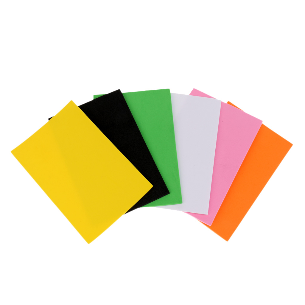 6 Pieces 2mm Fly Tying EVA Foam Sheet Fly Fishing Fly Tying Materials Crafts for Ants Beetles Bees Hoppers