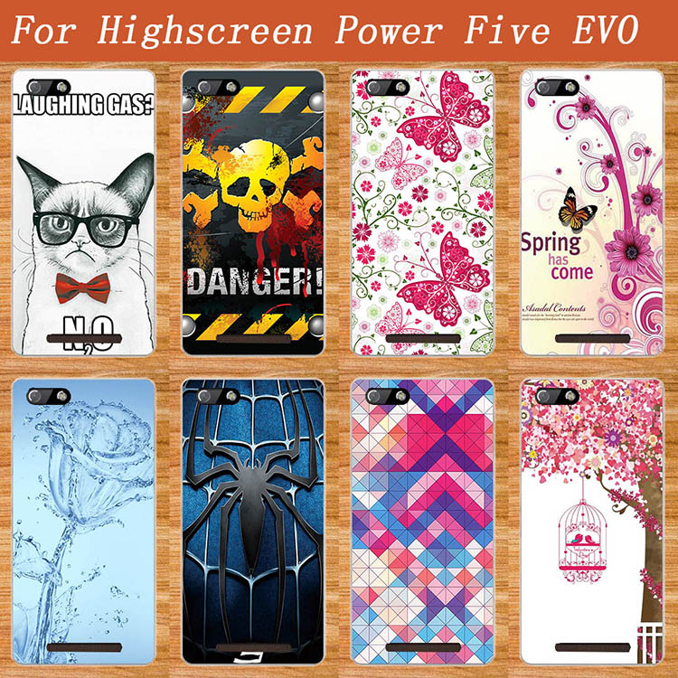 Blue Water Flower 3D Design Case FOR Highscreen POWER Five EVO Soft TPU Cover Butterfly Style Case For Highscreen Power FIVE Evo(China (Mainland))