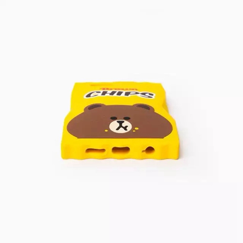 NEW Arrival! 3D Cartoon Brown Chips Candy Shape Silicone Soft Back Cover For Apple iPhone 5S SE 6 6S Plus Phone Case