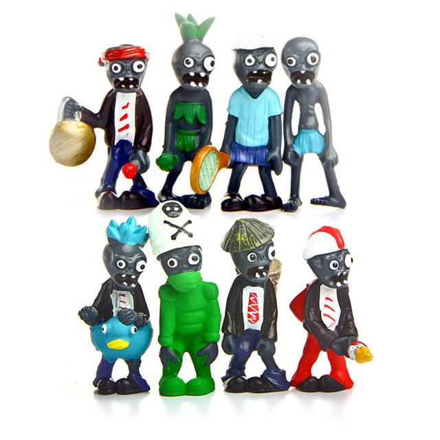Горячая Plants vs Zombies, 8 шт./лот 8 см tToys Зомби пвх Фигурку для детей Дети подарок Бесплатную доставку