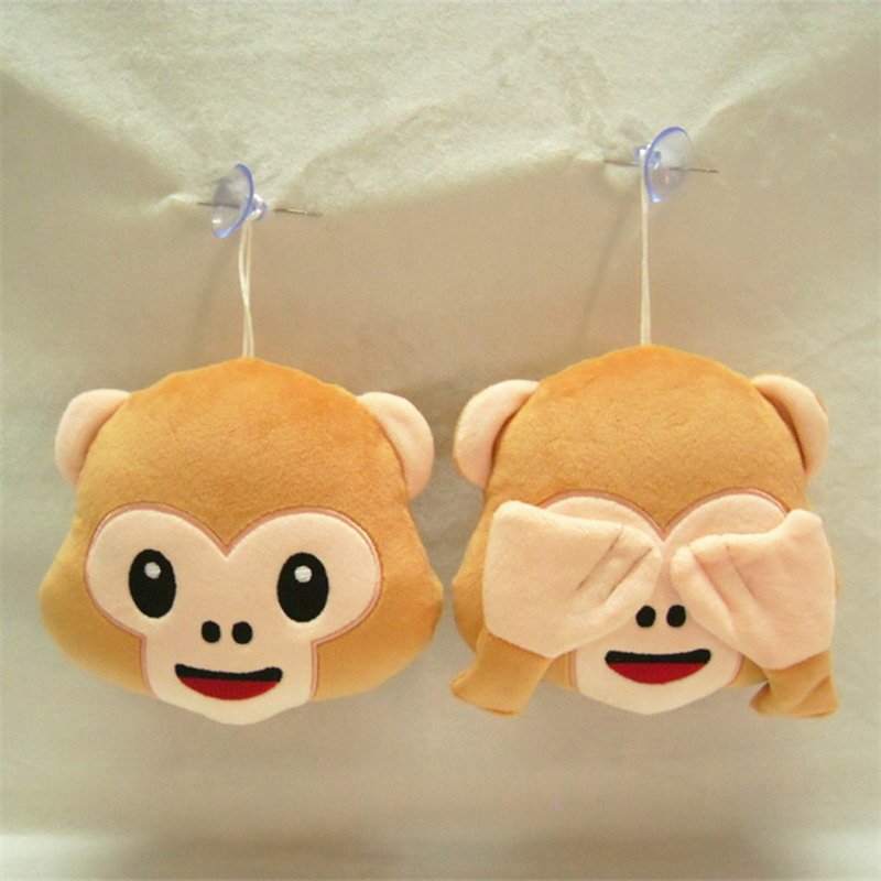 Hot Selling 15cm Emoji For Whats app No Saying No Looking No Listening Monkey Pillow Emoticonos