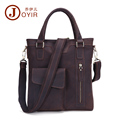 JOYIR 2016 New Men Business Genuine Leather Briefcase Pocket Messenger Crossbody Bag Laptop Handbags Shoulder Bag
