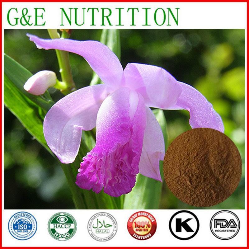10:1 Natural Common Bletilla Rubber Extract made in china 200g(China (Mainland))