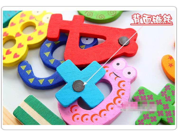 Wooden Digital Fridge Magnets Children s Early Learning Educational Maths Toy Wooden Refrigerator fridge magnet stick