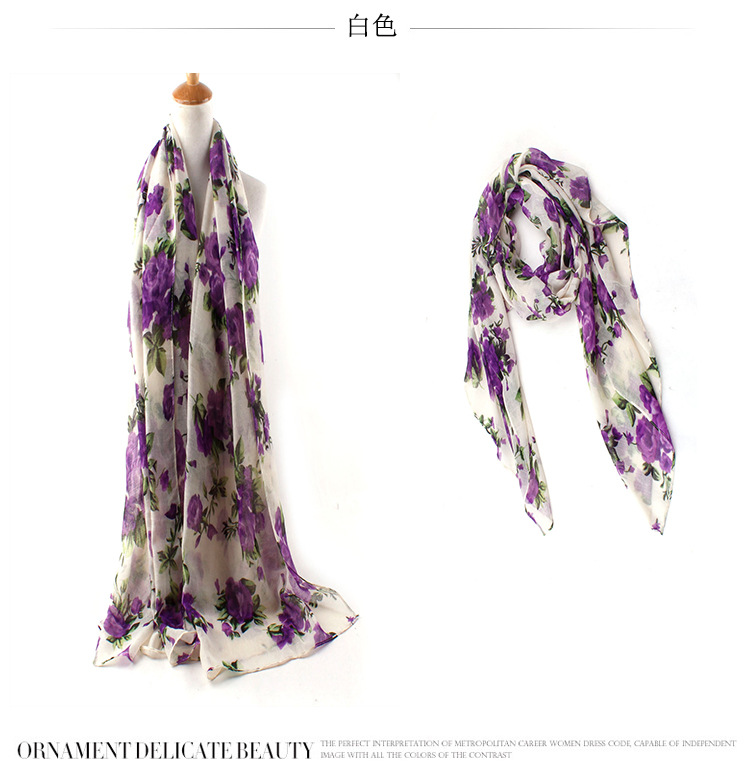 In 2016 6COLORS Ladies Floral hijab Scarves Free Shipping Fashion Women Apparel Accessories Viscose Shawl Wrap Muslim head Scarf(China (Mainland))