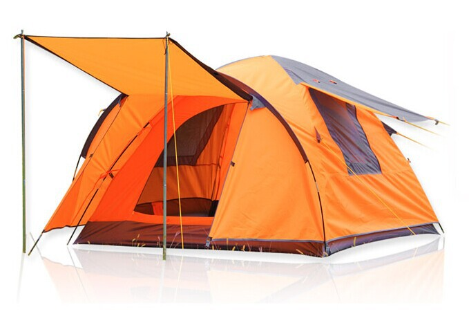 Large outdoor tent for 3-4 people with three of four foyer tent camping Professional Caulking<br>