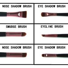 Hot Pink Professional 5Pcs Set Make-up Brushes Eyeshadow Brushes Soft Cosmetic Makeup Powder Brush Set Kits Tools