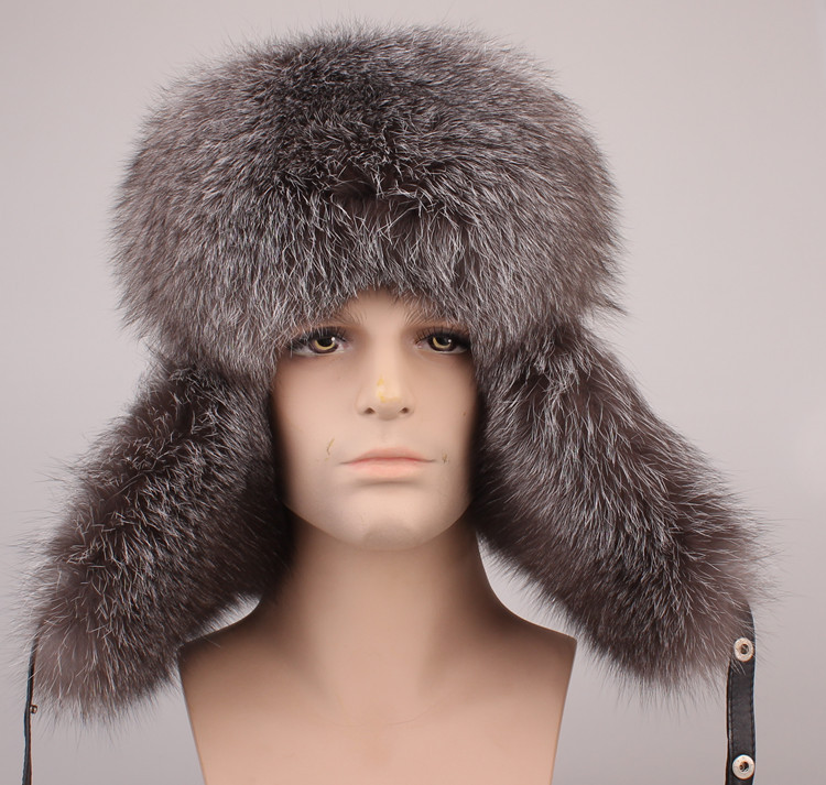fur hats for men bomber hat leifeng hat autumn winter natural raccoon/fox fur and leather surface man earflap hat H203(China (Mainland))