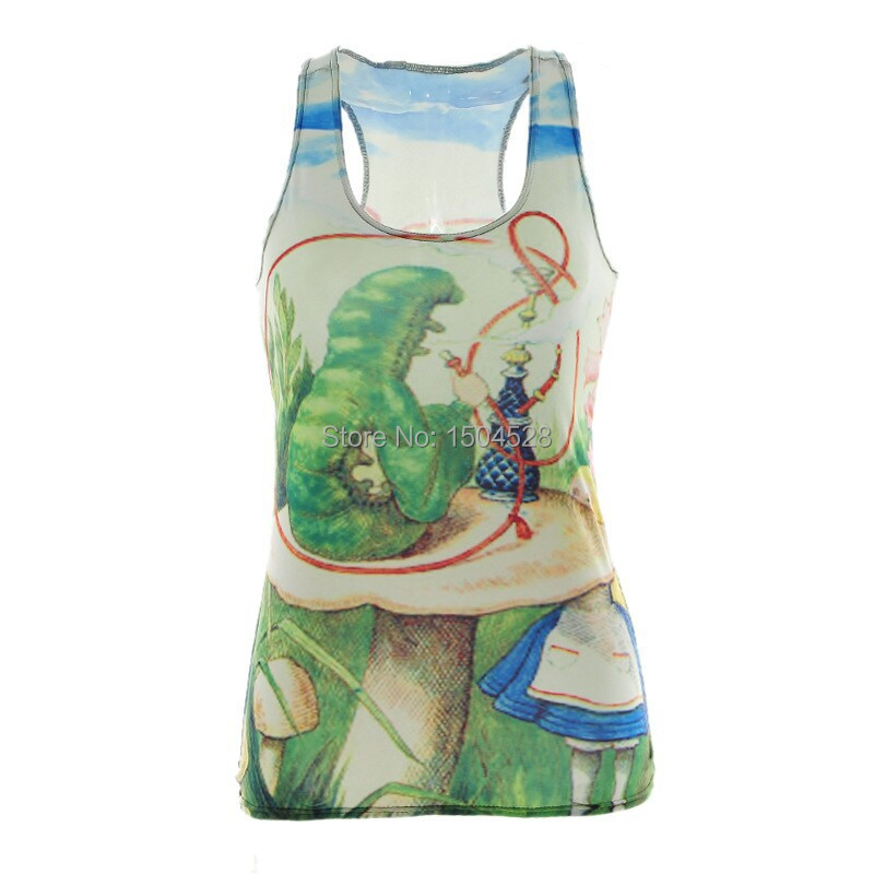 olso-0455 Free Shipping new 2014 summer camisole Human skeleton mermaid RIBS 3D Vest tops Despicable Skull bone Sexy tank skinny(China (Mainland))