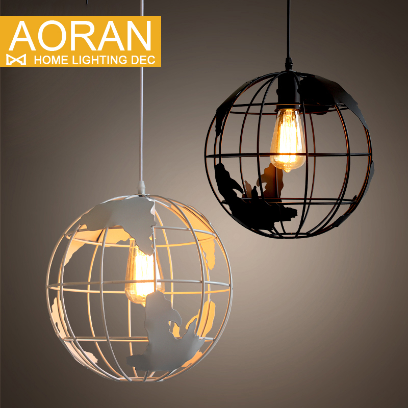New design Globes pendant lamps Metal painted black color and white color for room pendant lights Antique life style lighting(China (Mainland))