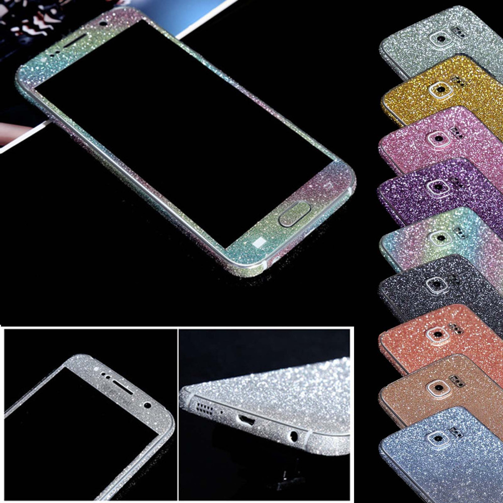 Glitter Diamond Full Body Phone Stickers for Samsung S5 i9600 Luxury Shiny Phone Case Cover for Galaxy S5 Skin Phone Accessory(China (Mainland))