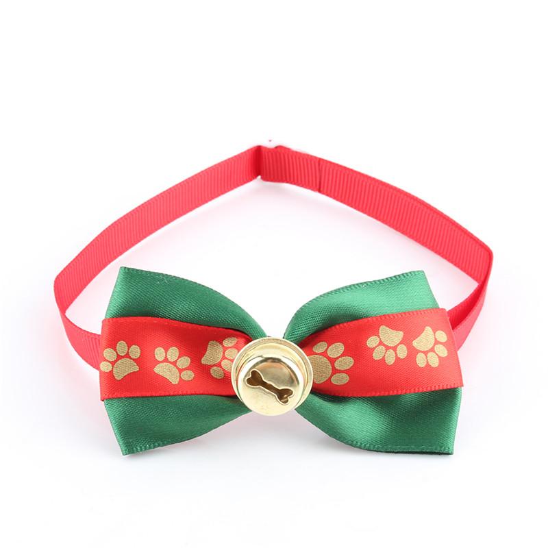 1Pcs Adjustable Xmas Grooming Dogs Bow Ties Dog Collar Bowtie Cat Christmas Collar Christmas Dog Accessories Wedding(Hong Kong)