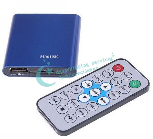 SD USB HDMI 1080P HD Mini Media Player USB MKV RMVB RM SD SDHC MMC HDD HDMI New Drop shipping/Free Shipping Wholesale(China (Mainland))