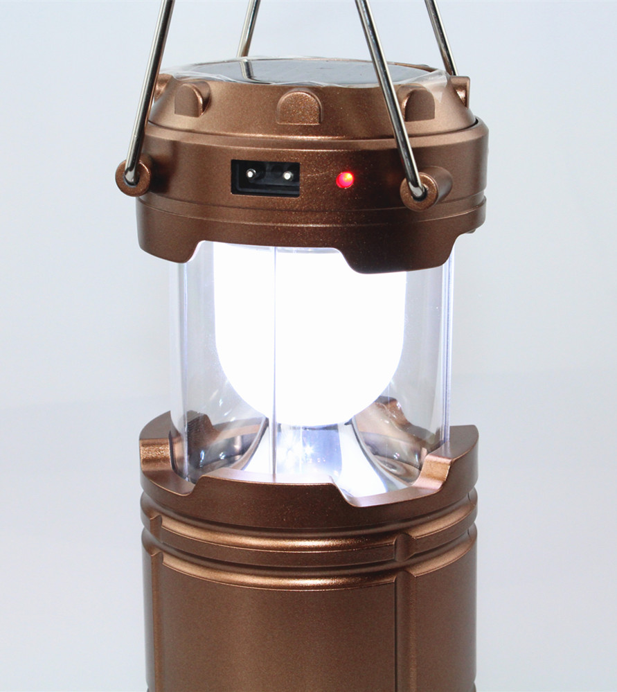 Led solar light outdoor Portable Lanterns new 800lm 6leds