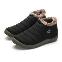 Tamaño grande 48 Nuevo Invierno de Las Mujeres Zapatos Botas de Nieve de Color Sólido En El Interior de algodón Inferior Antideslizante Mantener Caliente Luz Madre Ocasional Botas De Esquí(China (Mainland))