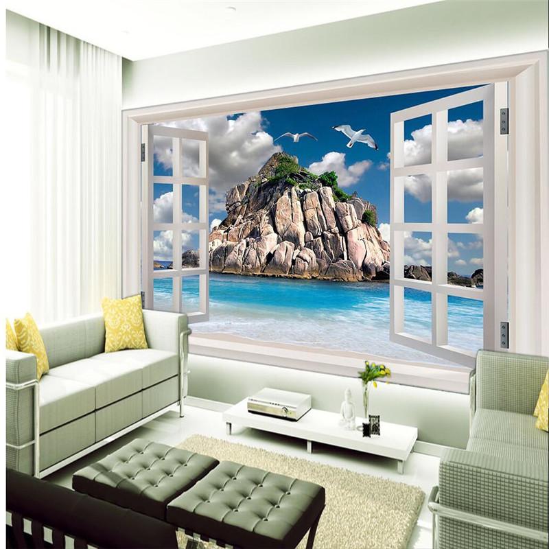 3d wallpaper mural art decor picture backdrop modern for Contemporary resort mural