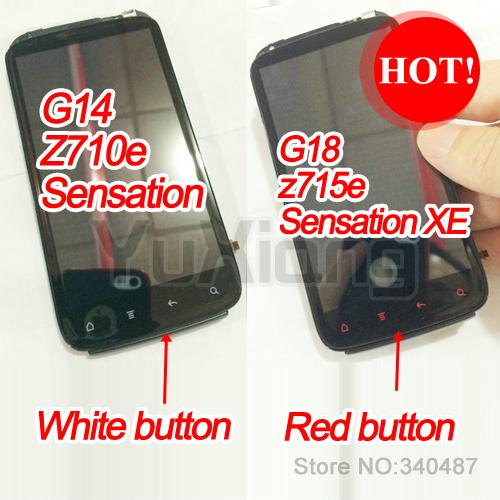 Original LCD Display +Touch Screen+Frame Full Assembly Digitizer For HTC Sensation & Sensation XE g14 g18  z710e z715e