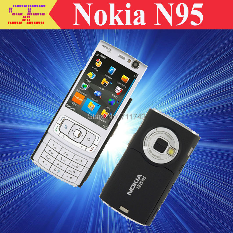 Refurbished Nokia N95 WIFI GPS 5MP 2.6''Screen WIFI 3G Unlocked N95 Mobile Phone FREE SHIPPING 1 Year Warranty(China (Mainland))