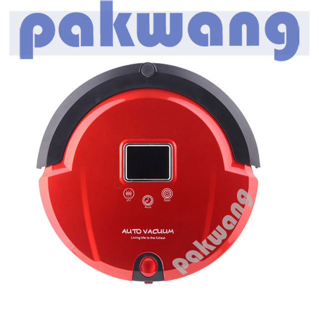 (For Russian Buyer Only) 1pc/lot, UV Robot Vacuum Cleaner, LCD Screen, Preset Cleaning Time, Rechargeable, Low Noise