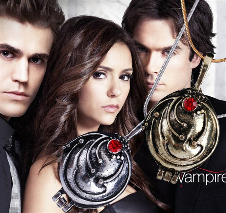 The Vampire Diaries necklace Elena Gilbert vintage vervain verbena pendant jewelry for men and women wholesale(China (Mainland))