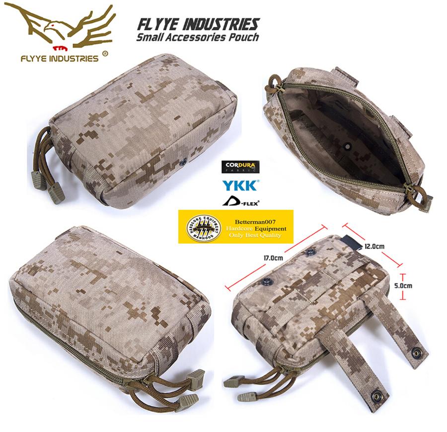 Genuine FLYYE C005 1000D CORDURA Waterproof Nylon Tactical Molle Pouch Molle Gear Bag Pouchs Pocket Tool Waist Bag Waistpack(China (Mainland))