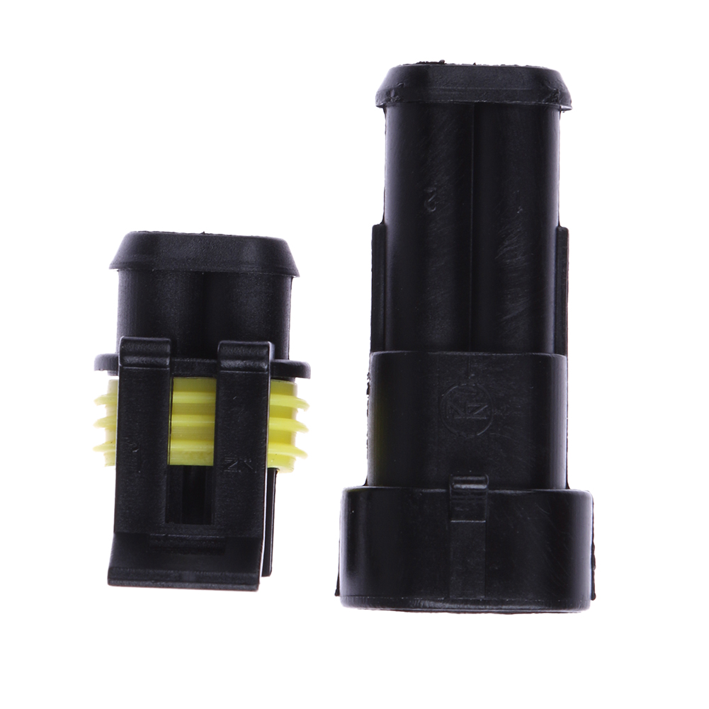 5 Sets Car Waterproof 1.5mm Terminals 2Pin Plug Automotive Electrical Wire Connector HID Plug Auto Xenon lamp