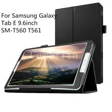 """For Samsung Galaxy Tab E 9.6inch , Slim Folding Cover Case For Samsung Galaxy Tab E 9.6"""" SM-T560 T561 Tablet"""