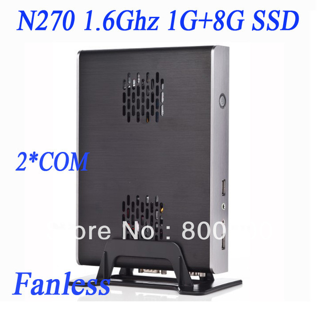 2013 fansion 2 COM fanless thin client with windows xp or linux Intel Atom N270 1.6Ghz CPU 1G RAM 8G SSD