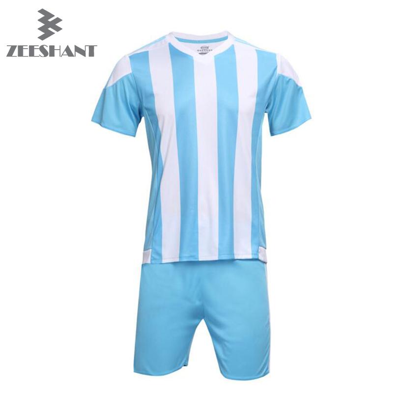 Stripe Football Soccer Jerseys + Pants Suit Set Men Women Children Boy Kits Kids Adult Short Sleeve Blank Uniforms for World Cup(China (Mainland))