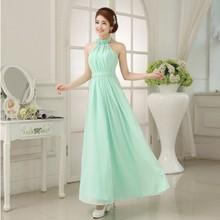 Mint Bridesmaid Dresses To Party Long Formal Dresses Chiffon Light Green Prom Dresses Under $50  vestidos dama de honor(China (Mainland))