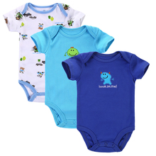 3pcs/lot Baby Romper Short Sleeve Cotton Similar  Baby Boy Girl Clothes Baby Wear Jumpsuits Clothing Set Body Suits(China (Mainland))